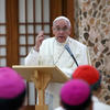 Pope Francis addresses bishops in South Korea
