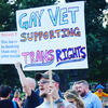 Gay vet supporting trans rights