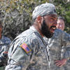 Sikh U.S. Army captain wearing a camouflage turban