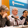 Associate Dean Dudley Rose, center, at a panel on religious freedom. Photo: Jon Chase, Harvard Staff Photographer