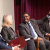 Professor Jonathan Walton, and Visiting Professor E.J. Dionne. Photo by Harvard Gazette