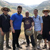"Professor Giovanni Bazzana poses with students during a trip to Israel as part of his course ""Historical Jesus."" Photo contributed."