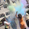 Students celebrate Holi on the HDS campus