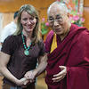 Susan Hayward MDiv '07 with the Dalai Lama