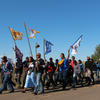 Prayer walk near Standing Rock Reservation
