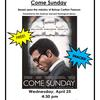 """Come Sunday"" Film Screening Poster"