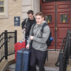 J.C. Panagides (left) and Mitchell Winkie moving out of Vanderbilt Hall on March 13. Image: Steve Lipofsky