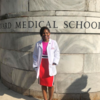"Courtesy of LaShyra ""Lash"" Nolen. The author at her white coat ceremony at Harvard Medical School."
