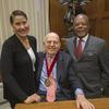 Evelynn Hammonds, Ira Berlin wearing his Du Bois Medal, and Henry Louis Gates, Jr.