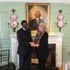Justice Maraga and Dr. Gill greet each other at Wadsworth House