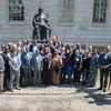 Ministers at the John Harvard Statue