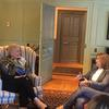 Margot Gill in conversation with Mayor Cruz in the Wadsworth House parlor