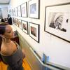 Rihanna admires the portrait of Mother Teresa in the Wadsworth House photo gallery