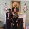Former Prime Minister Touré with University Marshal Margot Gill at Wadsworth House