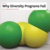 "Green and yellow balls, with the heading in front of them ""Why Diversity Programs Fail"""
