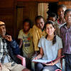 Sabrina Devereaux with local fishers in Madagascar.